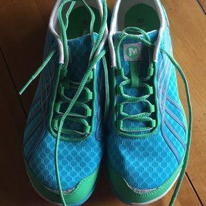 "Shoes - MERRELL blue/green ""glove dash 2"""